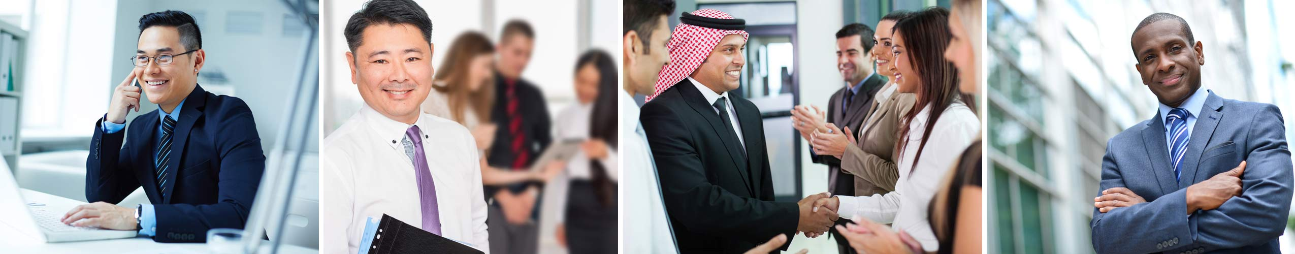 Business professionals from various cultural backgrounds